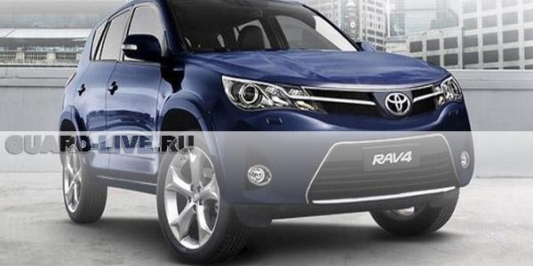 Охранник угнал и разбил автомобиль Toyota RAV4
